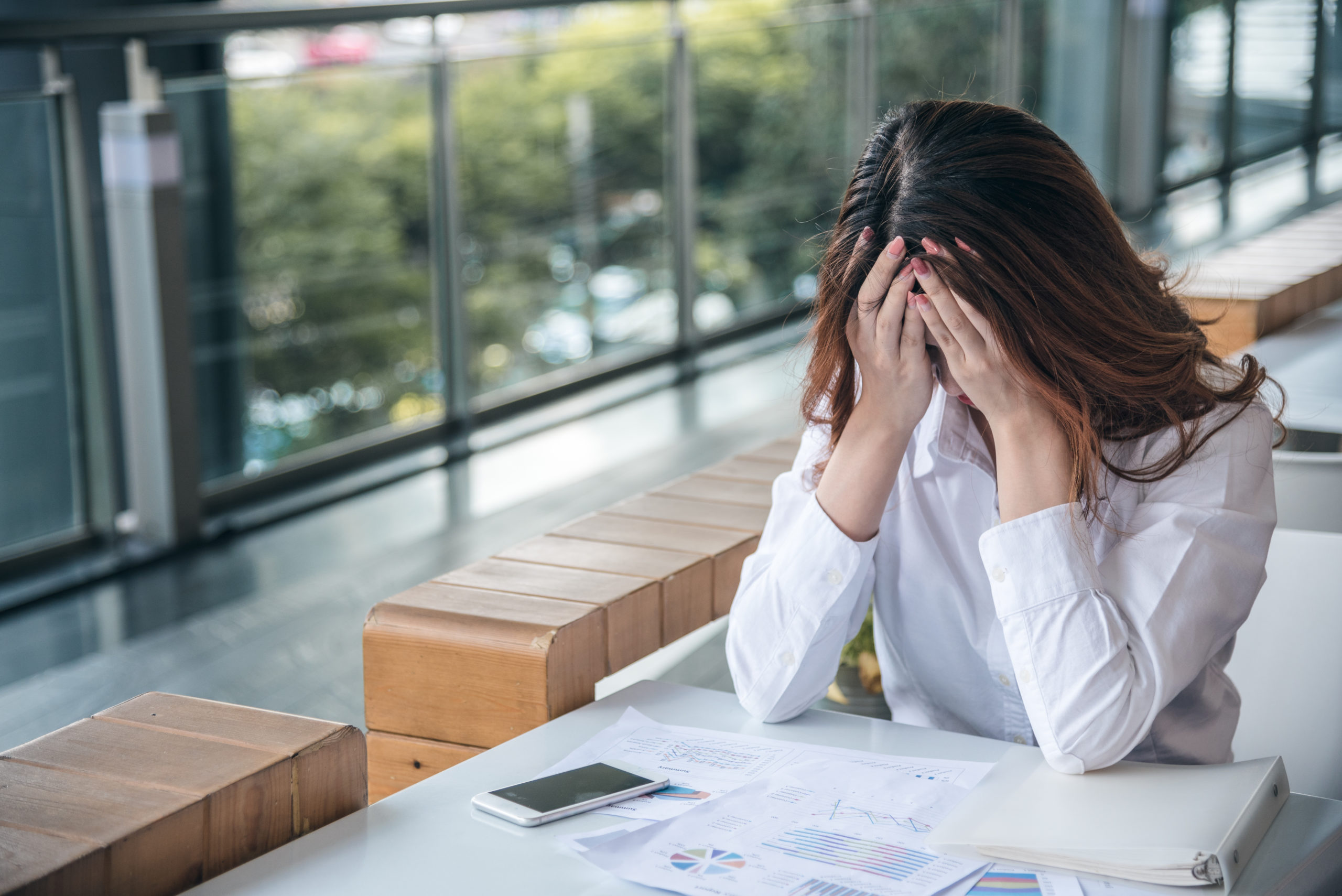 Woman struggles with her anxiety
